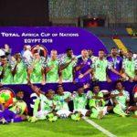 Super Eagles celebrate Afcon Bronze medal win