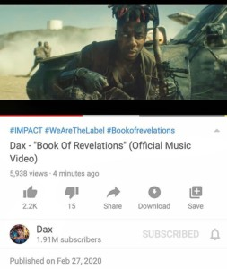 {Music & Video} Dax – Book of Revelations