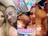 Actress Nkechi Blessing Sunday and her new man/Ekiti politician Hon. Opeyemi David Falegan in PDA session at her birthday party (video)